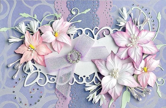 Цветы для скрап открыток 219