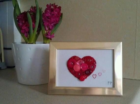 Валентинки из пуговиц (22)