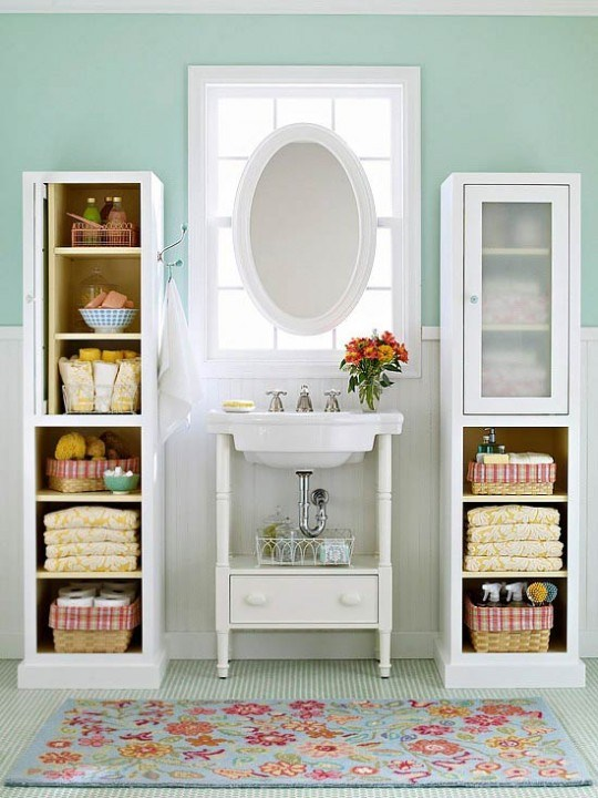 Самые лучшие идеи хранения вещей в ванной комнате (12)