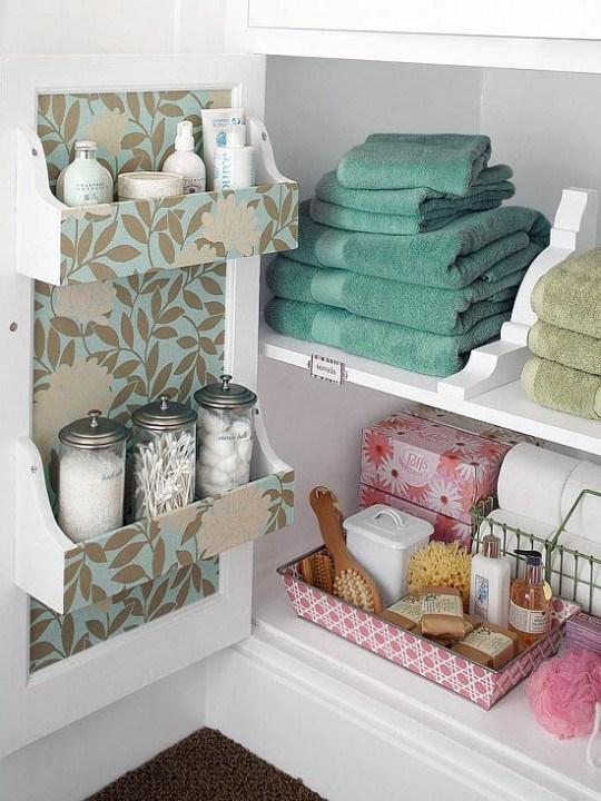 Самые лучшие идеи хранения вещей в ванной комнате (19)