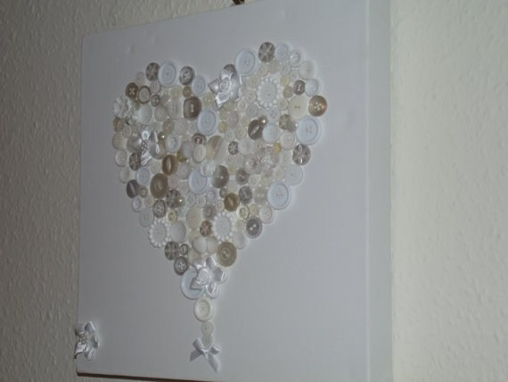 Валентинки из пуговиц (19)