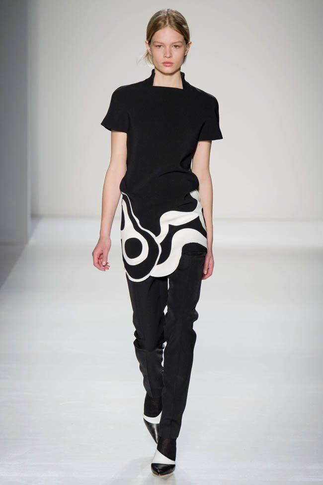 Неделя моды в Нью-Йорке: Victoria Beckham осень 2014 (20)