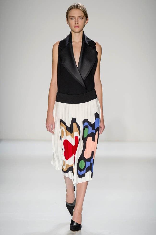 Неделя моды в Нью-Йорке: Victoria Beckham осень 2014 (22)