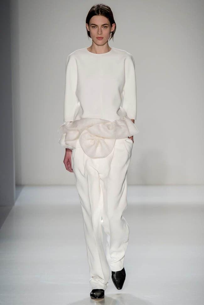 Неделя моды в Нью-Йорке: Victoria Beckham осень 2014 (25)