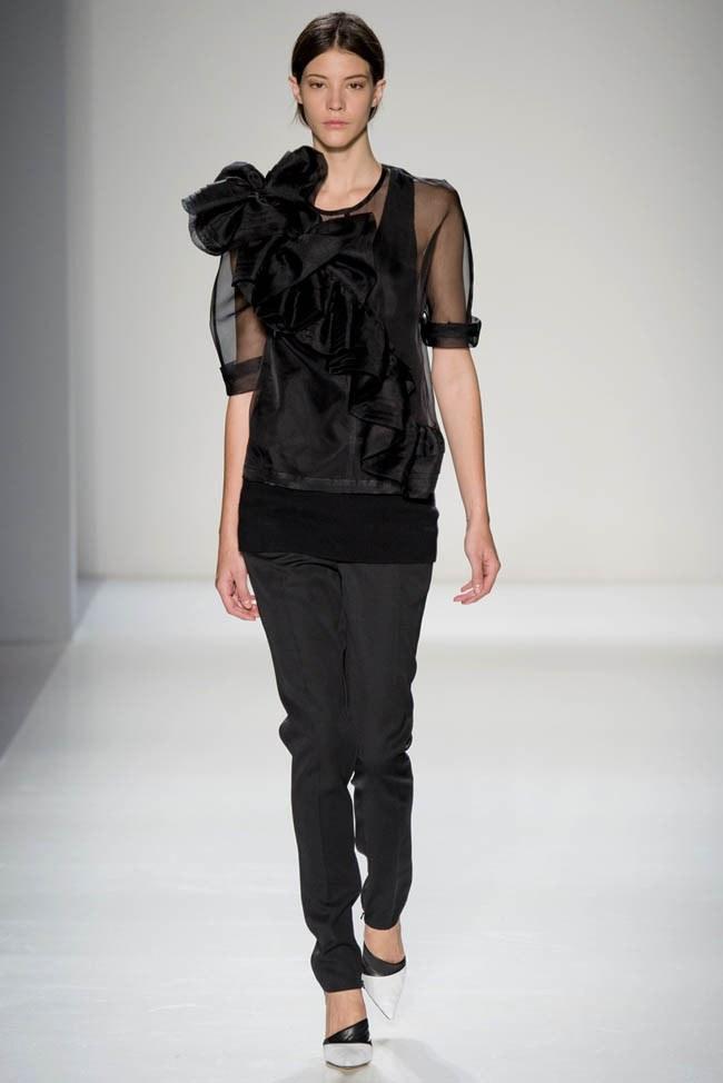 Неделя моды в Нью-Йорке: Victoria Beckham осень 2014 (26)