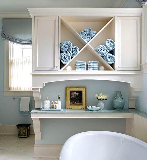 Самые лучшие идеи хранения вещей в ванной комнате (17)