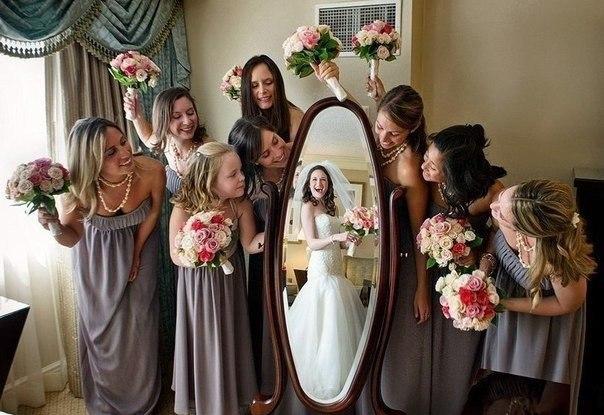 Отличная идея для свадебной фотографии