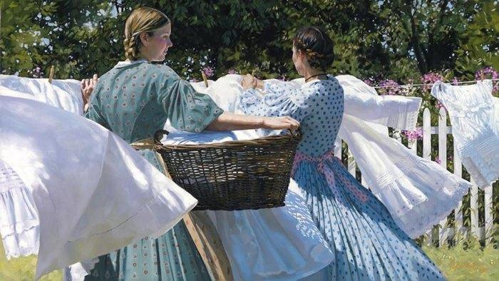 Как в прошлые времена хозяйки стирали белье (8)